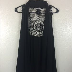 Maurice Black Coverup Knitted Back Design